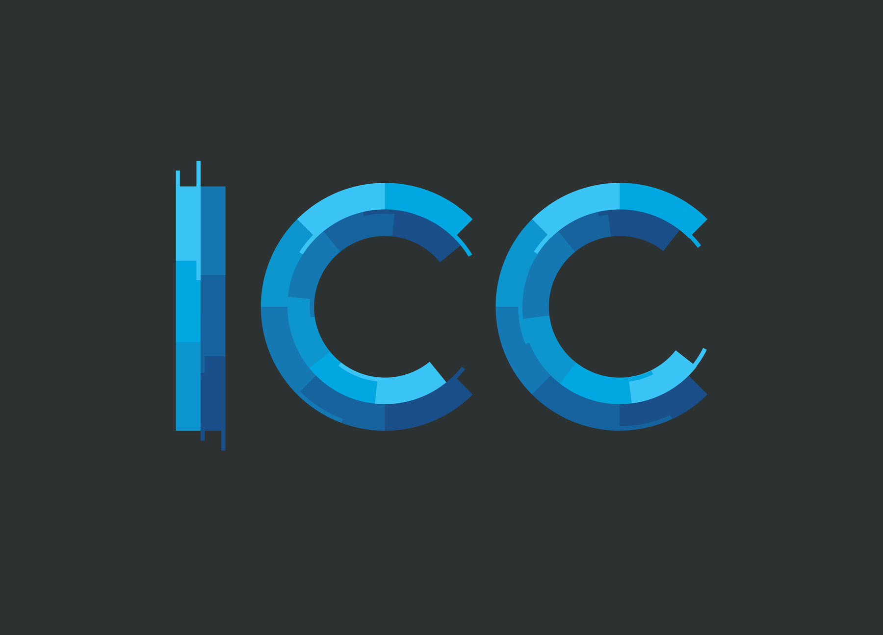 Distinctive new logo for ICC, an innovative wealth management firm based in Las Vegas. Design by BigMouth in San Francisco.